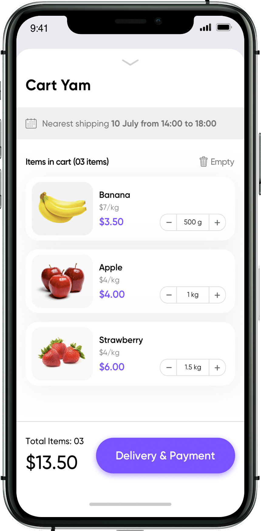 grocery store mobile app design