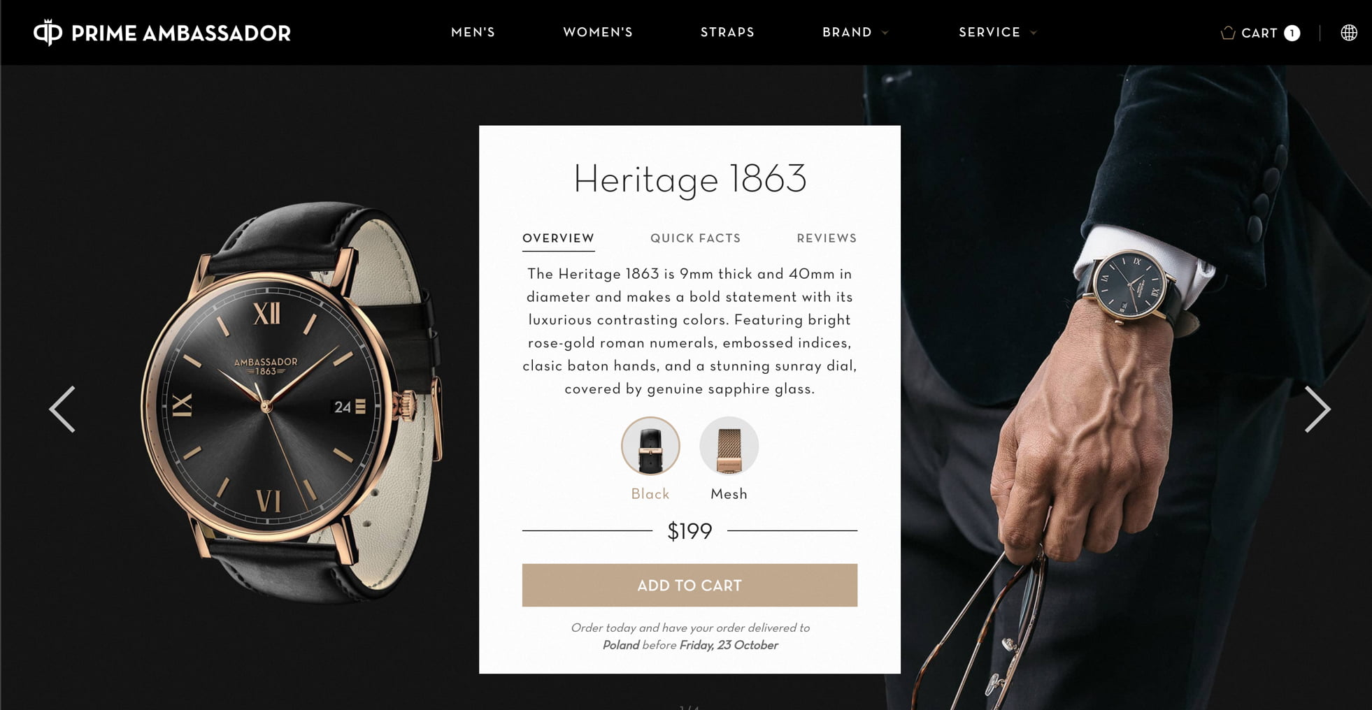 product page in web design