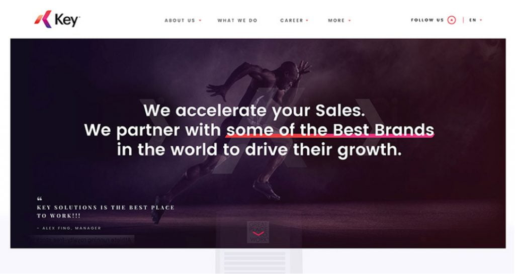 sales agency website design